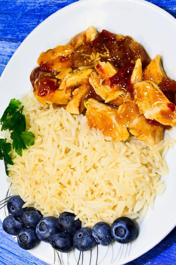 Grilled Chicken Blueberry Salad