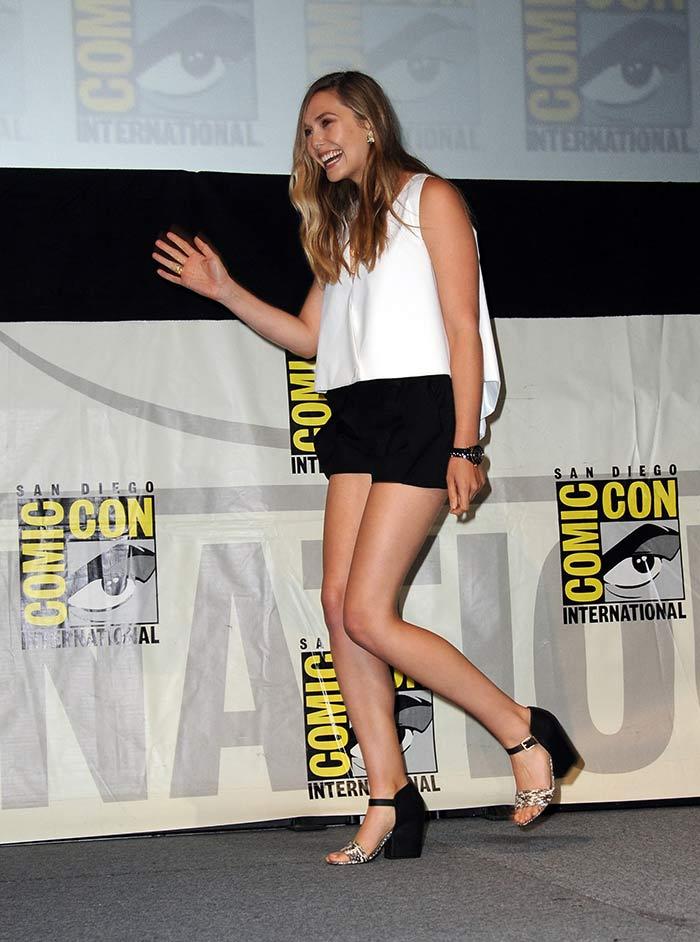 Elizabeth Olsen Sexy Feet in high heels-8