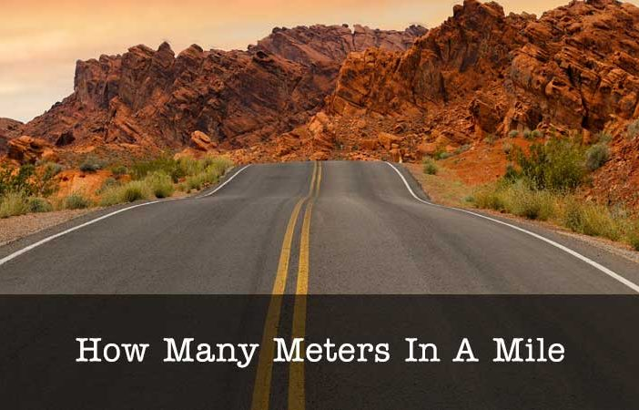 how many meters in a mile