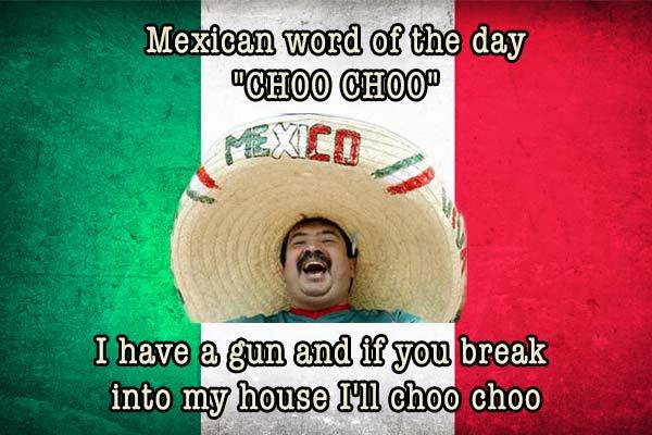 mexican word of the day choo choo