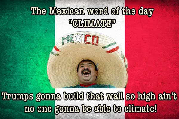 mexican word of the day climate